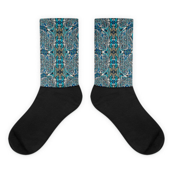 Charlee Time Lapse Black Foot Socks