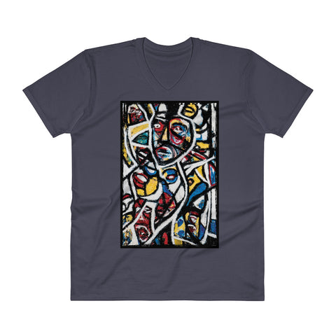 Charlee Outside Reality Kaleidoscope Men's V-Neck T-shirt