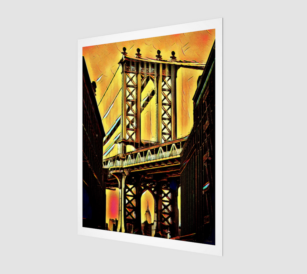 Charlee Brooklyn Bridge Giclée Home Decor Wall Prints
