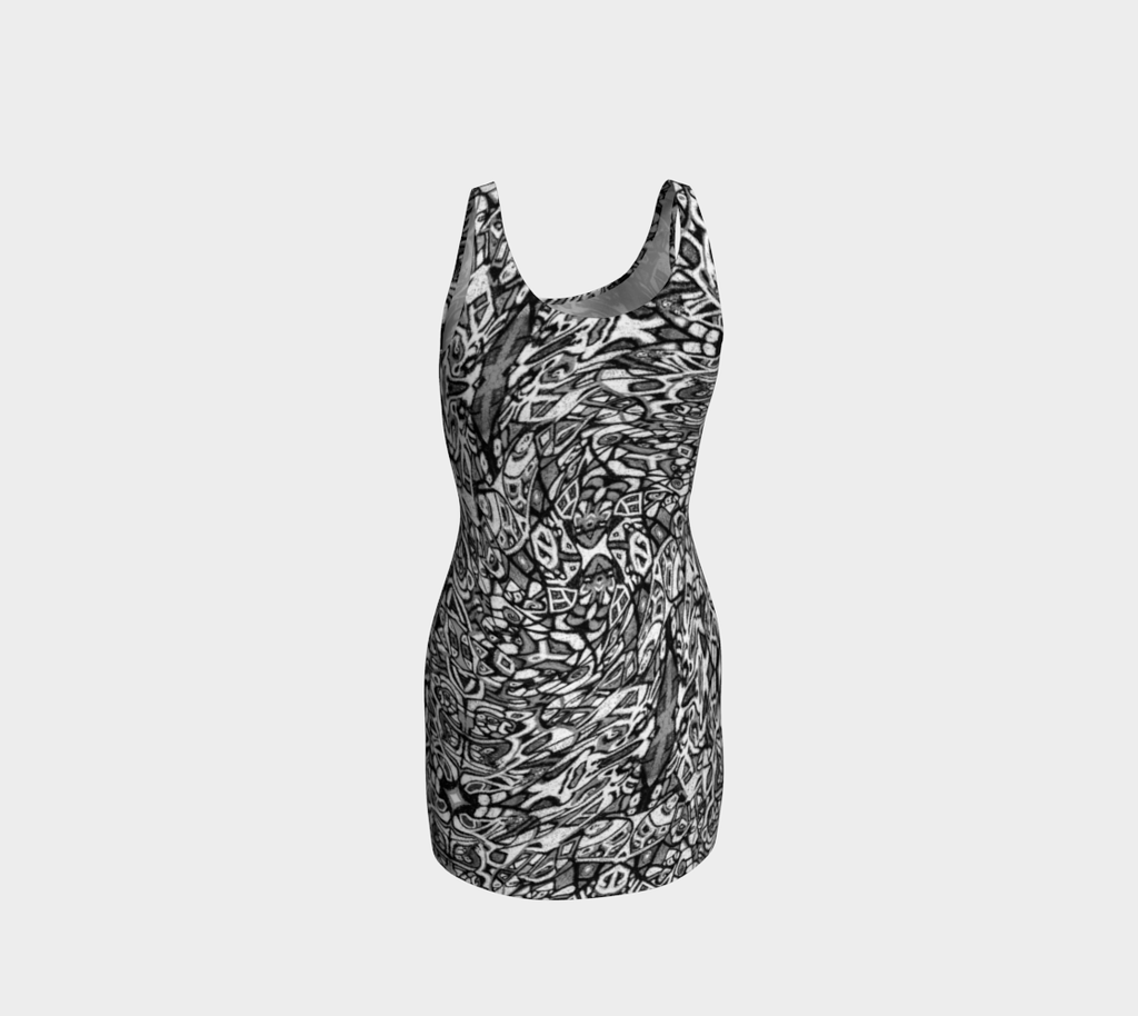 Charlee The Dream Bodycon Dress in BW