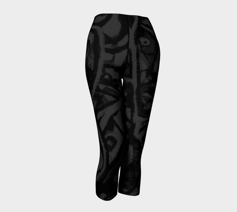 Charlee Shears Capris NOIR