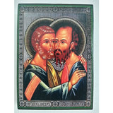"Peter and Paul, Christian Icon 4x3"" (11x8cm) - Artastate"