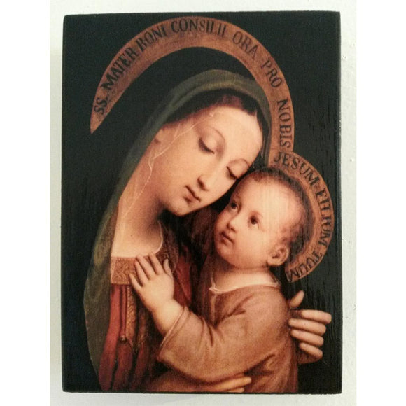 Holy Virgin Mary, Christian Icon 4x3