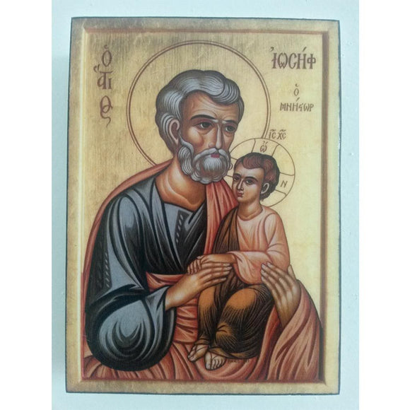 Saint Joseph, Christian Icon 4x3
