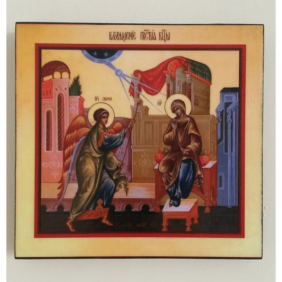 Annunciation, Christian Icon 6x6