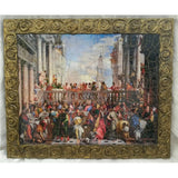 "The Wedding at Cana Wooden Print Painting 14x12"" (36x30 cm)"