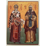 "Cyril and Methodius, Christian Icon 4x3"" (11x8cm) - Artastate"