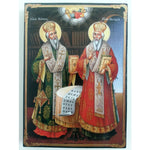 "Cyril and Methodius, Christian Icon 8x6"" (21x15cm) - Artastate"