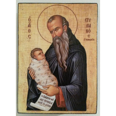 """Saint Stylianos"" Christian Icon 4x3"" (11x8cm)"