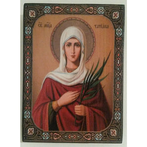 """Saint Tatiana"" Christian Icon 4x3"" (11x8cm)"