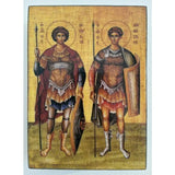 "Demetrius and George, Christian Icon 4x3"" (11x8cm) - Artastate"