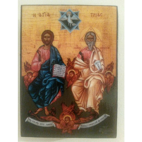 """The Holy Trinity"" Christian Icon 4x3"" (11x8cm)"