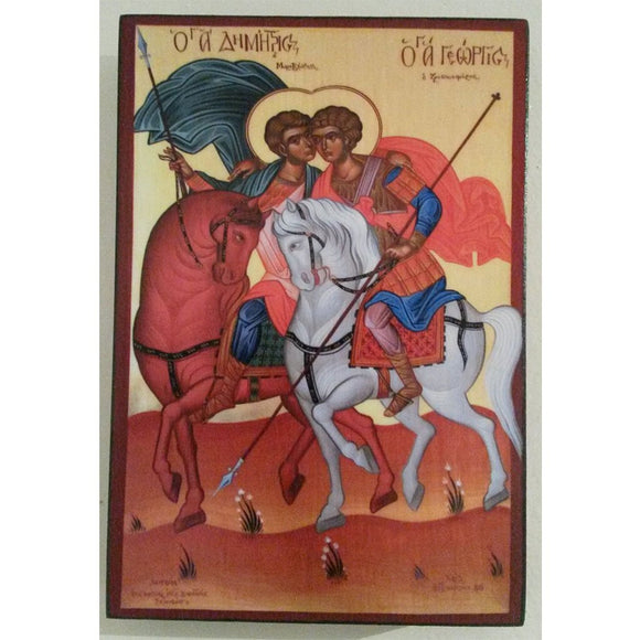 Demetrius and George, Christian Icon 6x4