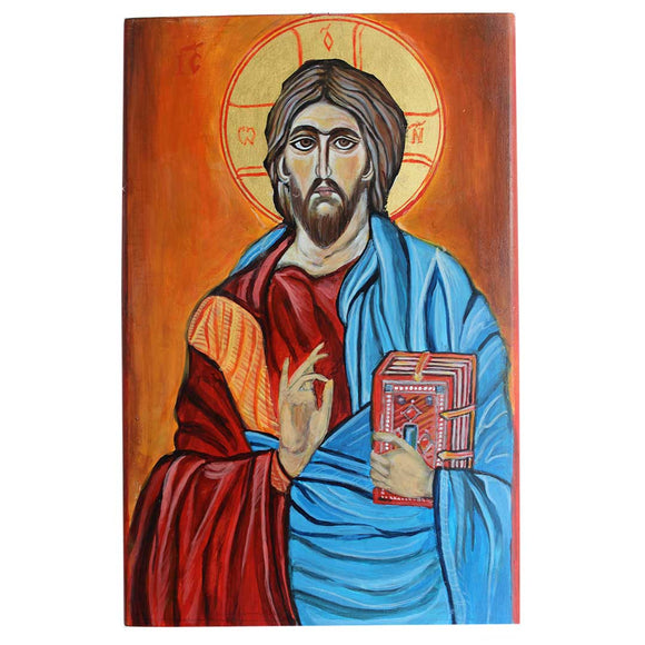Jesus Christ, Christian Icon 12x8 in / 30x20 cm