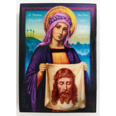"""Saint Veronica"" Christian Icon 4x3"" (11x8cm)"