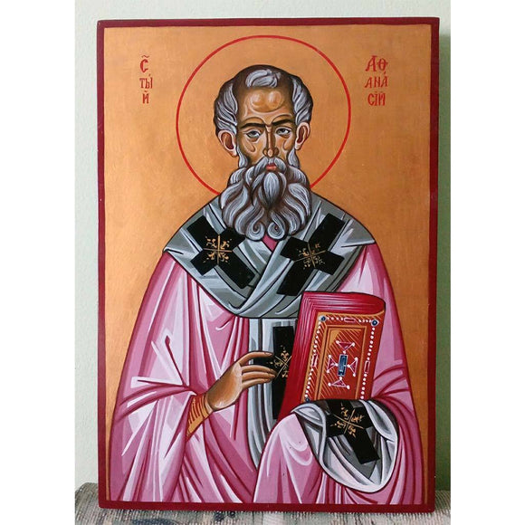 Saint Athanasius, Christian Icon 13x9