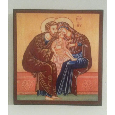 """The Holy Family"" Christian Icon 6x6"" (16x15cm)"