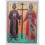 "Constantine and Helena, Christian Icon 8x6"" (21x15cm) - Artastate"