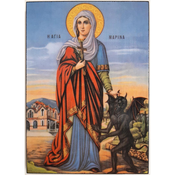 Saint Marina, Christian Icon 8x6 in / 21x15 cm
