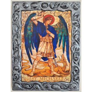 "Saint Michael, Christian Icon 10x8"" (26x20cm)"