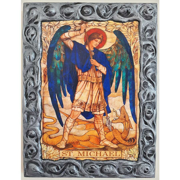 Saint Michael, Christian Icon 10x8