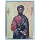 """Saint Timothy"" Christian Icon 4x3"" (11x8cm)"