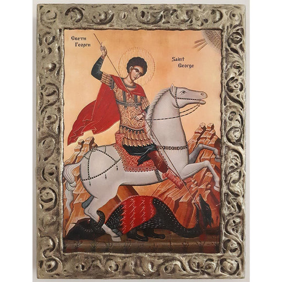 Saint George, Christian Icon 10x8