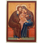 """The Holy Family"" Christian Icon 4x3"" (11x8cm)"