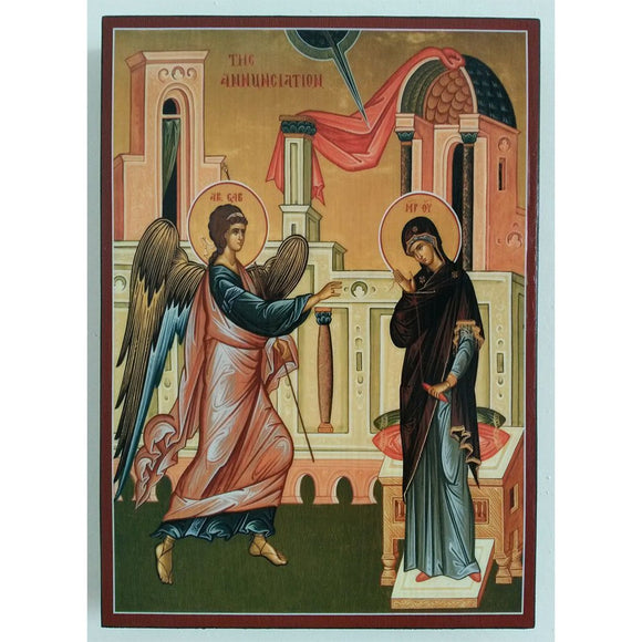 Annunciation, Christian Icon 8x6