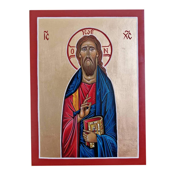 Jesus Christ, Painted Christian Icon by Ani Georg
