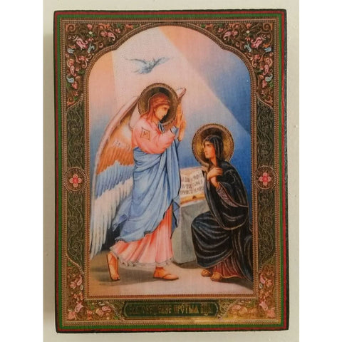 "Annunciation, Christian Icon 4x3"" (11x8cm) - Artastate"
