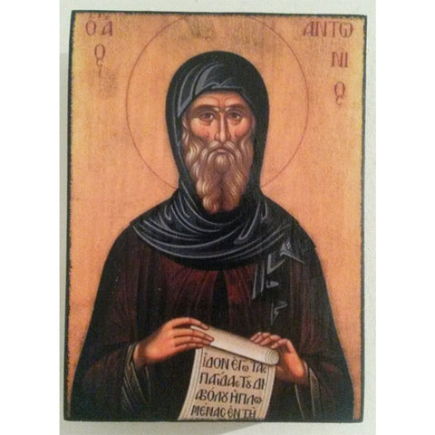 "Saint Anthony, Christian Icon 4x3"" (11x8cm) - Artastate"