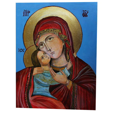 Holy Mary, Christian Icon 16x12 in / 40x30 cm
