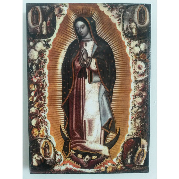 Our Lady of Guadalupe, Christian Icon 8x6