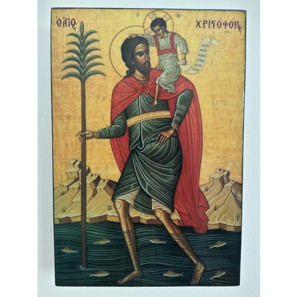 Saint Christopher, Christian Icon 6x4