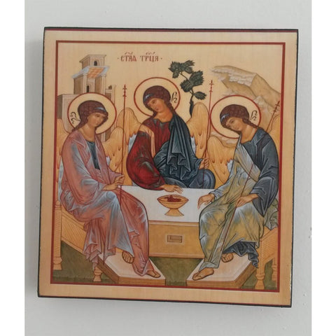 """The Holy Trinity"" Christian Icon 6x6"" (16x15cm)"