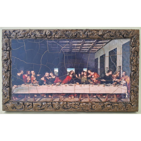 "The Last Supper Wooden Print Painting 13x8"" (33x20 cm)"