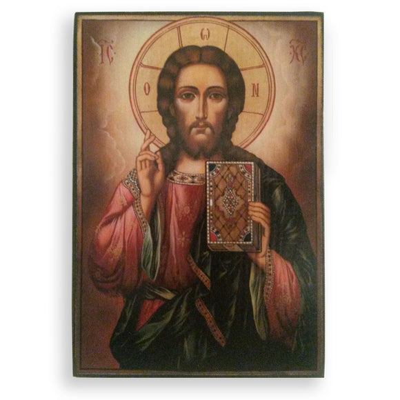 Jesus Christ, Christian Icon by Nelly Jordanova