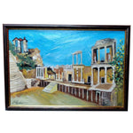 "Amphitheater Plovdiv, Mixed Painting 18x26"" (45x65cm)"