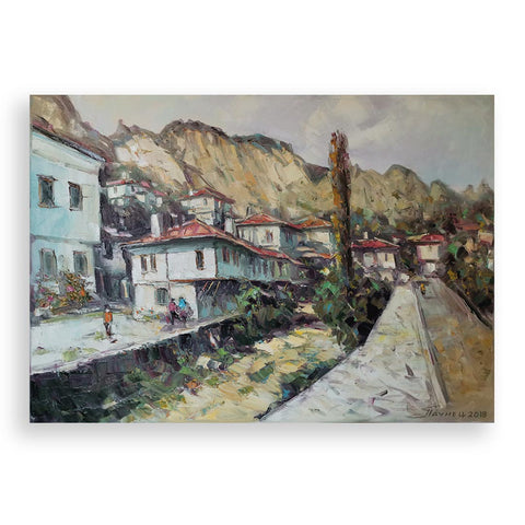 Melnik, Oil Painting by Georgi Paunov