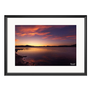Sunset, Photography Framed Art Print by Raina Sind