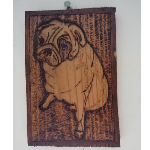 "Dog, Pyrophaphy Wooden Artwork 8x6"" (20x14cm)"