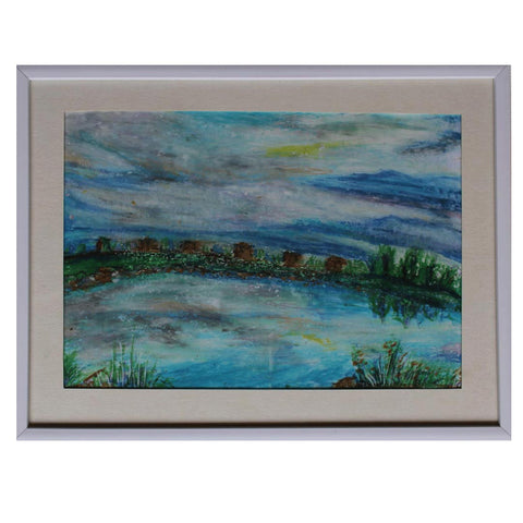 Landscape, Pastel Painting by Ani Georg
