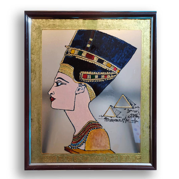 Nefertiti, Mixed Painting by Penka Livrova