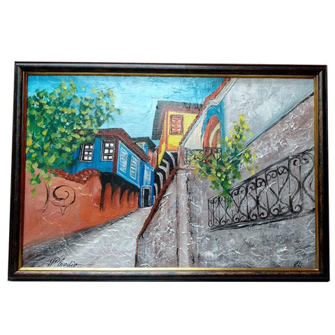 "Thracian Loom Plovdiv, Mixed Painting 25x17"" (65x45cm)"
