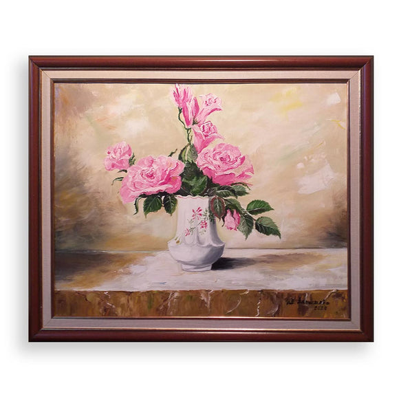 Pink Scent, Oil Painting by Ivanka Alexieva