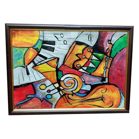 "Music Аrrangement, Mixed Painting 18x26"" (45x65cm)"
