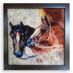 Horses, Wool Textile Painting by Boyan Ivanov