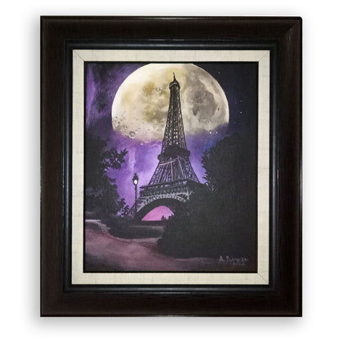 Night in Paris, Acrylic Painting by Desislava Docheva