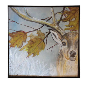 Deer, Acrylic Painting by Ani Georg